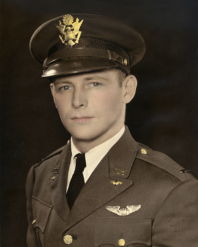 (Then U.S. Army Air Forces 2nd Lt. Peyton S. Mathis, Jr.) U.S. Army Air Forces Maj. Payton S. Mathis, Jr., was determined killed in action June 5, 1944, after engine failure on his P-38 Lightning just before landing at Kukum Air Field on Guadalcanal Island rolled the aircraft and led it to crash into a swamp nearby. Though rescue teams attempted immediate recovery of the former 44th Fighter Squadron commander, seven feet of water concealed the cockpit and prevented access. Due to the crash location, his body remained unrecovered for 70 years until JPAC's Central Identification Laboratory officially identified his remains Oct. 16, 2014.