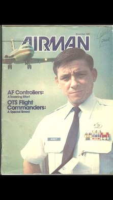 William Merritt, a retired Air Force master sergeant, is featured on a past cover of Airman Magazine. He is the father of Michael Merritt, a 325th Operation Support Squadron radar approach control chief controller, and the second of three generations of Air Traffic Controllers. (U.S. Air Force courtesy photo)