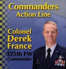 Col France commander's action line graphic