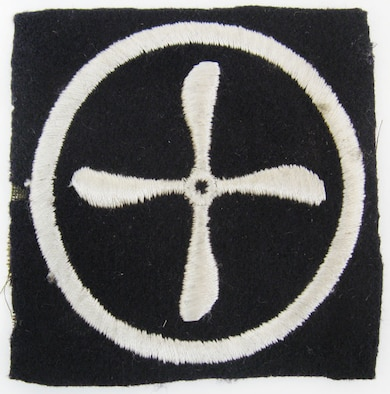 This is an insignia patch worn by aviation mechanics of the U.S. Army Signal Corps, Aviation Section during World War I. On May 24, 1918, President Woodrow Wilson transferred the Aviation Section from the Signal Corps to the newly established U.S. Army Air Service. The U.S. Army Air Service was a forerunner of today's United States Air Force. (U.S. Air Force photo)
