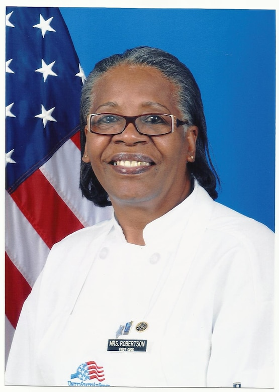 Linda Robertson, former 81st Force Support Squadron first cook, retired after 36 years of service. (Courtesy Photo)