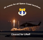 Airmen from the 920th Rescue Wing, Patrick Air Force Base, Fla., are on hand to secure the Eastern Range prior to all Space Coast, Florida rocket launches. (U.S. Air Force graphic/Maj. Cathleen Snow)