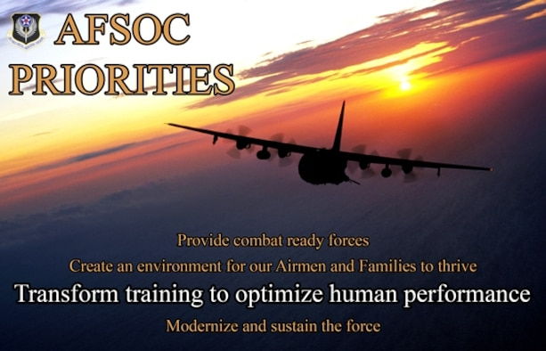 AFSOC Priorities 3- Transform training to optimize human performance