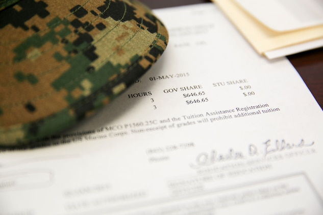 The Marine Corps has updated regulations for tuition assistance in the 2015 fiscal year. Marines now have longer to apply before their class begins and more stringent grade policies, according to Marine Administrative Message 687/14.