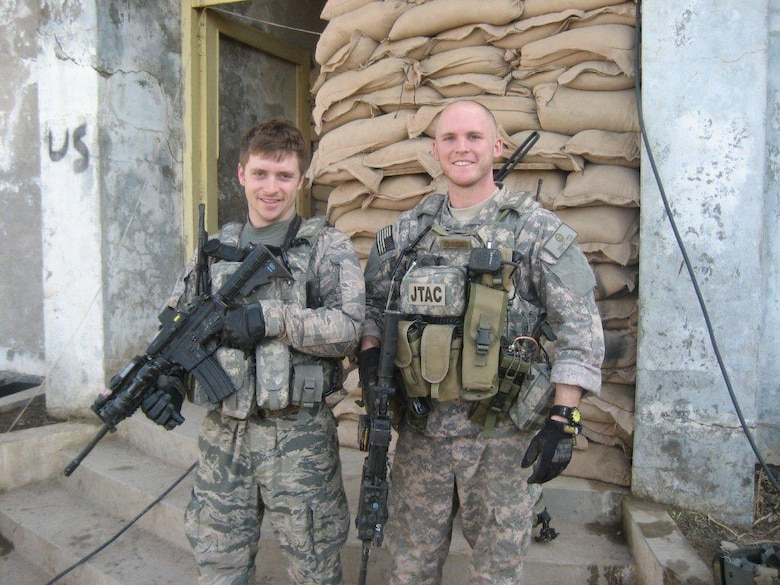 Senior Airmen Michael Malarsie and Bradley Smith, a two-man Joint Terminal Attack Controller (JTAC) who deployed together to Afghanistan in December 2009. (Courtesy  photo)
