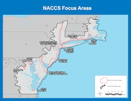 Many communities along the Northeast remain vulnerable to coastal flooding. The Comprehensive Study identified nine high-risk focus areas that warrant additional analysis. They are (in no particular order): 1) Rhode Island Coastline; 2) Connecticut Coastline; 3) New York-New Jersey Harbor and Tributaries; 4) Nassau County Back Bays, New York; 5) New Jersey Back Bays; 6) Delaware Inland Bays and Delaware Bay Coast; 7) the City of Baltimore; 8) the District of Columbia; and the 9) the City of Norfolk.