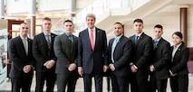 Pictured above, from left to right, are Sgt. Blaz Jr., Sgt. Riggott III, Sgt.  Gonzales,  GySgt. Amantine-Taylor (Det Sofia, Cpl. Varela, Sgt. Rodriguez, and Sgt. Calcano.