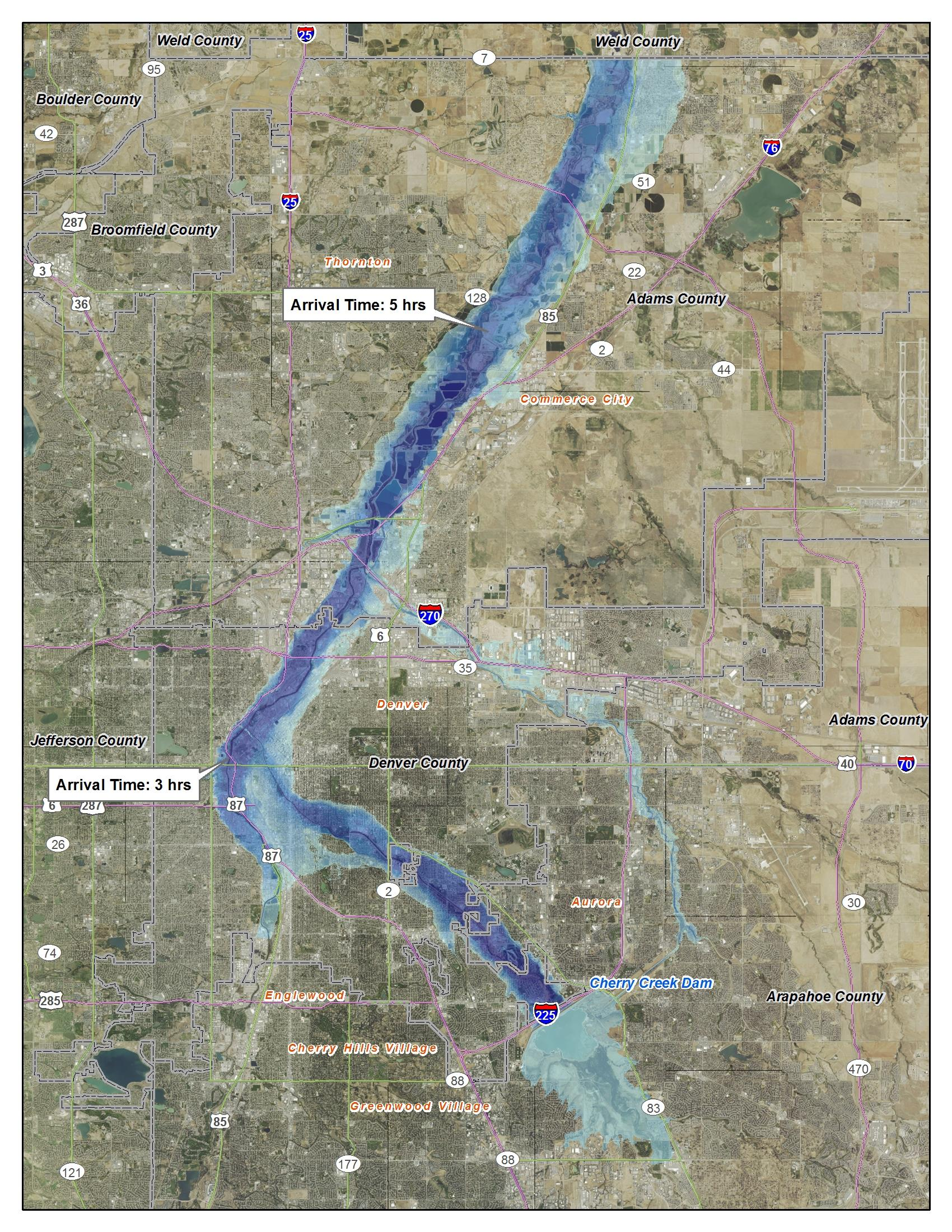 Cherry Creek Dam DSMS Omaha District Fact Sheet Article View - Map of us dams deficient