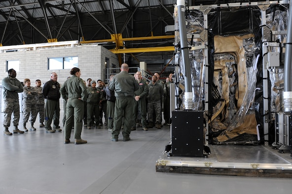 Members of the 375th and 932nd Aeromedical Evacuation Squadrons recieve training on the Transport Isolation System at Scott Air Force Base, Illinois, Jan. 26, 2015. The training was designed to familiarize members with the maintenance, set up and layout of the TIS and their responsibilities while using the system. (U.S. Air Force photo/Staff Sgt. Jonathan Fowler)