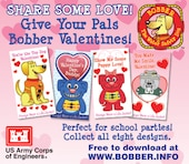 Share some love! Give your pals Bobber Valentines.