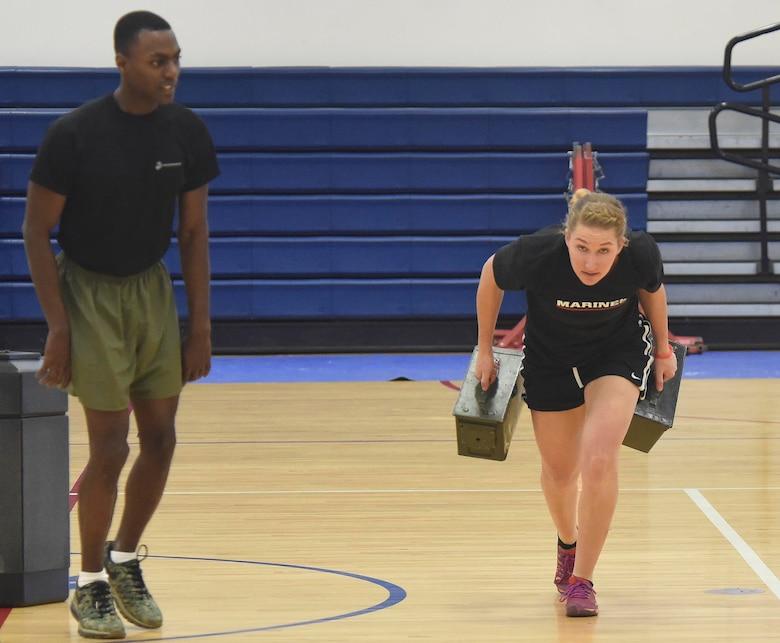 Female U S Marine Corps Poolees Endure DEP Workout Air Force