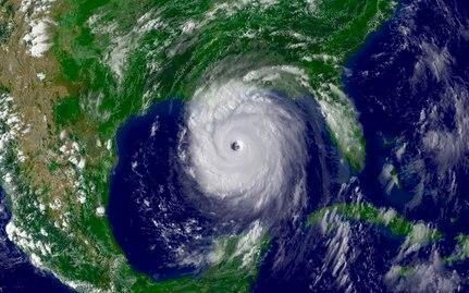 Hurricane Katrina aerial view.