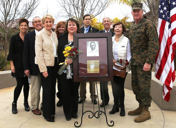 Brig. Gen. Edward D. Banta was joined by members of the Browne family for the rededication of the Browne Child Development Center in a ceremony here, Jan. 29. The child development center was named after Capt. Edward R. Browne who died in combat during the Vietnam War, July 1967. Brig. Gen. Banta is Commanding General of Marine Corps Installations West, Marine Corps Base Camp Pendleton.
