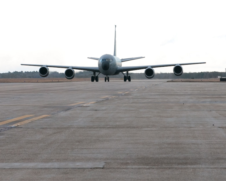 Members of the 102nd Civil Engineering Squadron depart from Otis Air National Guard Base, Mass. for exercise Silver Flag in Florida on January 22, 2015. The exercise prepares the squadron for many tasks that they will face in a deployed location with a week long, 24/7 enviornment, that tests each airmen's skillset and allows them to get hands-on experience.(National Guard photo by SrA. Tom Swanson/Released)