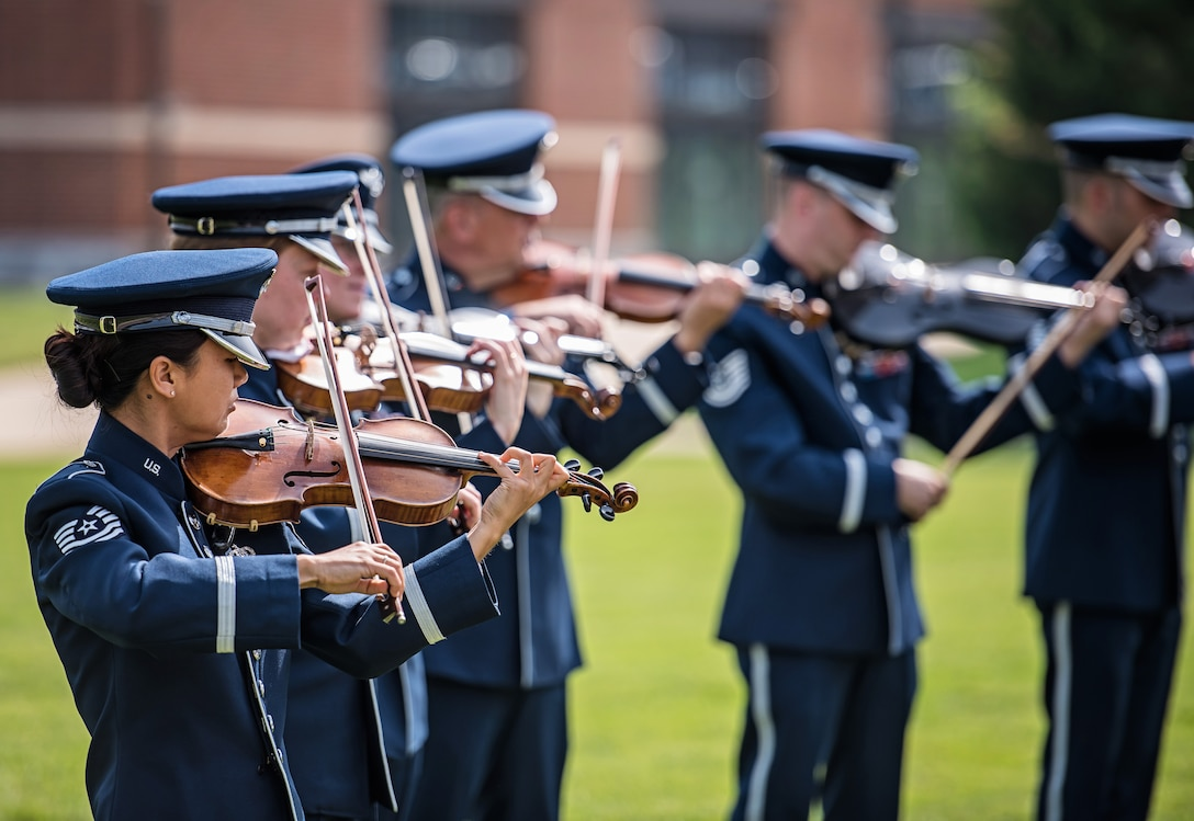 The Air Force Strings played a pre-ceremony concert on the historic Ceremonial Lawn at Joint Base Anacostia-Bolling on June 23rd for the 11th Operations Group Change of Command Ceremony. (U.S. Air Force photo by Senior Master Sgt Kevin Burns/released)