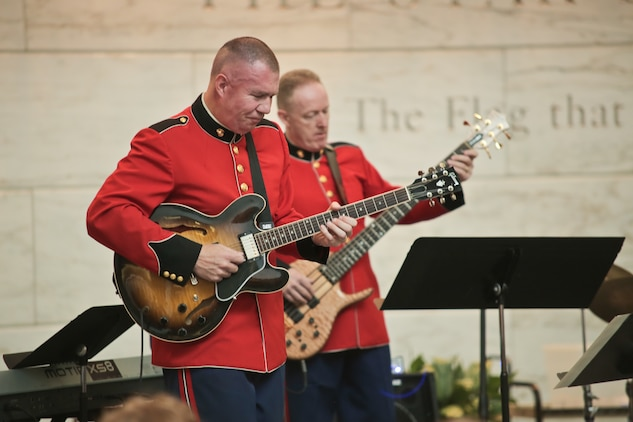 "A Marine Jazz Ensemble from ""The President's Own"" performed an eclectic mix of jazz standards for visitors during the afternoon of July 2  at the National Museum of American History. (USMC photo by Staff Sgt. Brian Rust/released)"