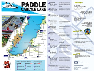 Carlyle Lake Water Trail Map