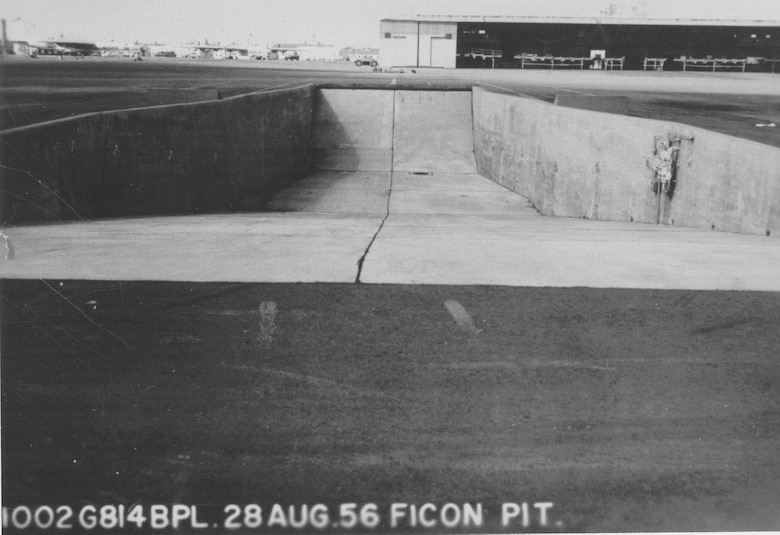 FICON Loading Pit. The $55,000 pit was 142 feet long, 50 feet wide and 12 feet deep. (U.S. Air Force photo)