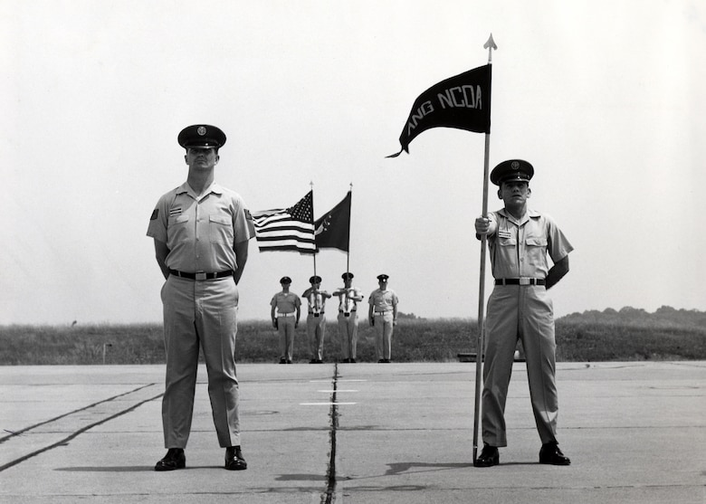 MCGHEE TYSON AIR NATIONAL GUARD BASE, Tenn. - The Air National Guard's NCO academy students stand at parade-rest during a graduation here in 1969. Today's I.G. Brown Training and Education Center runs the largest and longest continuously running NCO academy in the U.S. Air Force. (U.S. Air Force file photo/Released)