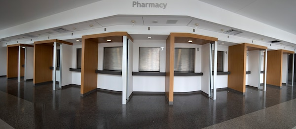 With the new Wilford Hall Ambulatory Surgical Center opening the summer of 2016, the three current pharmacies will be combined into one.  This will provide customers with 13 service windows to pick-up medical prescriptions. (U.S. Air Force photo illustration/Staff Sgt. Kevin Iinuma)