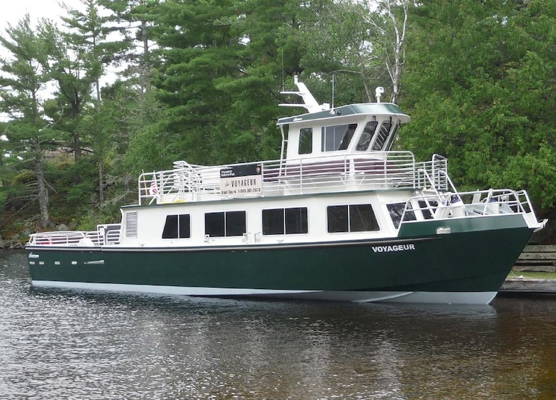 The U.S. Army Corps of Engineers' Marine Design Center managed the design and building of the VOYAGEUR, a tour boat owned by the U.S. National Park Service. The vessel was delivered in August of 2009.