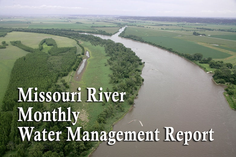 The Missouri River Water Management office releases a report at the beginning of each month to the public documenting the monthly river forecast and release schedule.