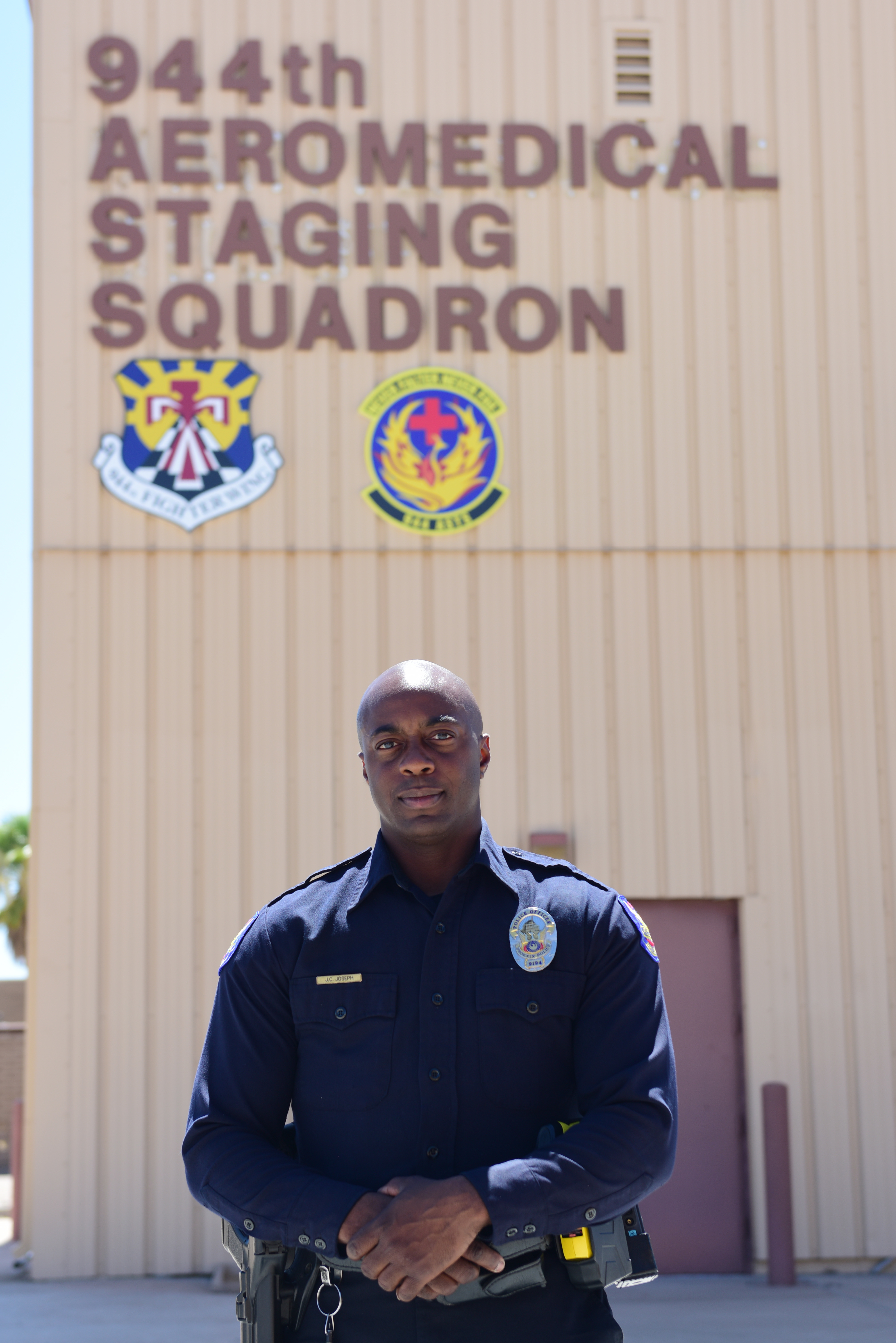 face of defense reserve airman saves child