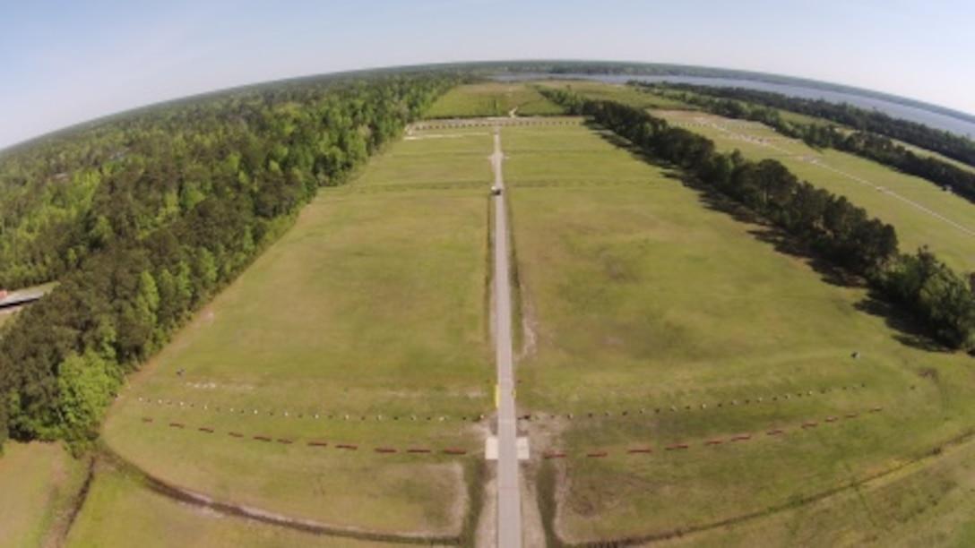 View of Weapons Training Battalion Alpha Range Stone Bay located at Stone Bay (Camp Lejeune), North Carolina.