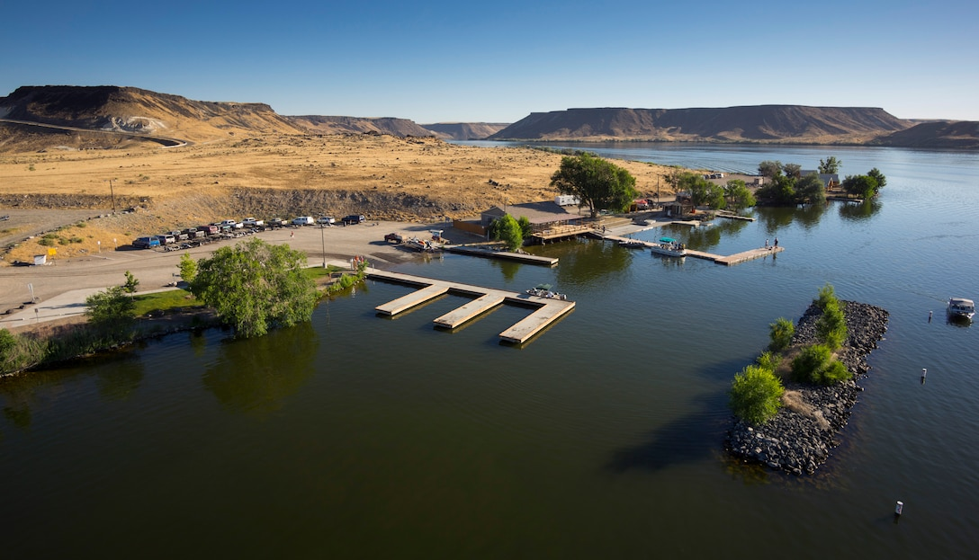 The Air Force Marina at C.J. Strike Dam, Idaho, offers rental equipment and facilities for Mountain Home Air Force Base airmen and their families. The marina operates from Memorial Day weekend through Labor Day weekend, Saturday, Sunday and holidays from 7 a.m. to 7 p.m. (Courtesy photo by Samuel Morse)