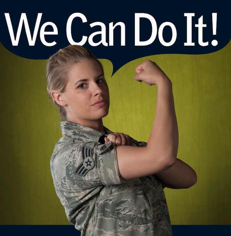 As early as the American Revolution, serving as nurses, cooks -- and water bearers, women have played a pivotal role in American military success. Today, however, women in the military have stepped out of the shadows and into nearly all of the Air Force's more than 130 different career fields. Among these diverse career fields are dedicated female Airmen, like Senior Airman Ashley Boeckholt, 30th Medical Operations Squadron public health technician. (U.S. Air Force photo illustration by 30th Space Wing Public Affairs/Released)