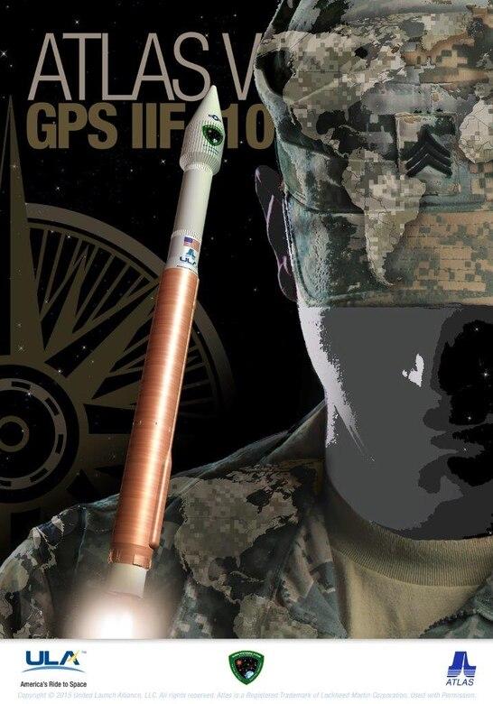 GPS IIF-10 mission art