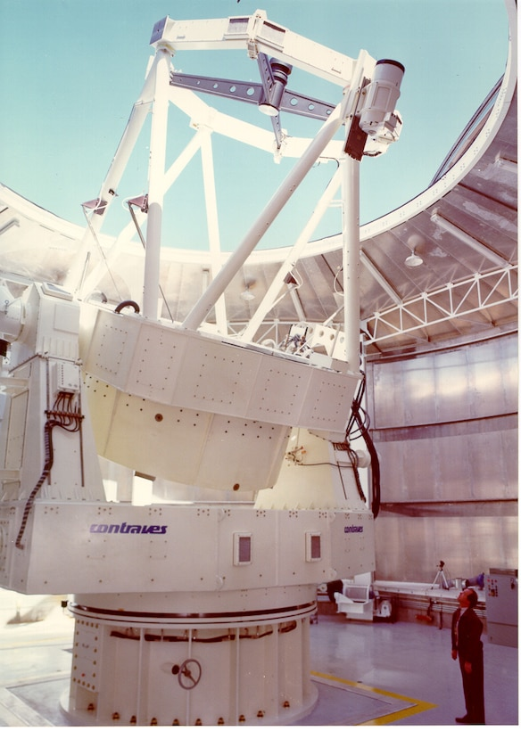 Air Force Research Laboratory Directed Energy Directorate's Starfire Optical Range 3.5-meter telescope. The world-class adaptive optics telescope is the second largest telescope in the Department of Defense.  (Courtesy photo)