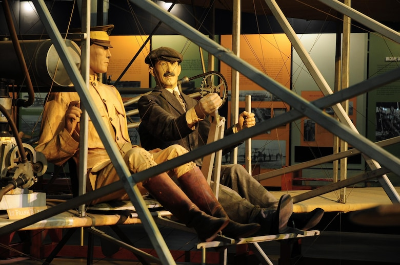 DAYTON, Ohio -- Wright 1909 Military Flyer in the Early Years Gallery at the National Museum of the United States Air Force. (U.S. Air Force photo by Ken LaRock)