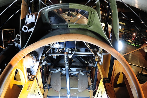 DAYTON, Ohio -- Nieuport N.28C-1 cockpit at the National Museum of the United States Air Force. (U.S. Air Force photo)