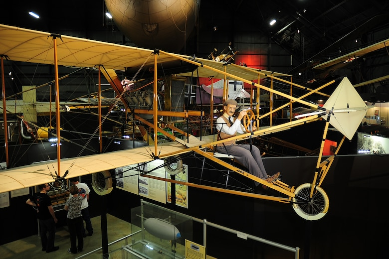 DAYTON, Ohio -- Curtiss 1911 Model D on display in the Early Years Gallery at the National Museum of the United States Air Force. (U.S. Air Force photo by Ken LaRock)
