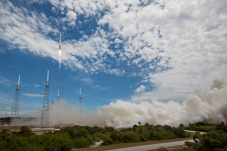 An Atlas V rocket carrying GPS IIF-10 launches from Cape Canaveral Air Force Station's Space Launch Complex 41 in Florida on July 15, 2015. (Courtesy photo/United Launch Alliance)