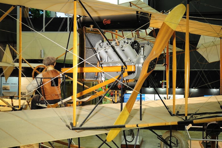 DAYTON, Ohio -- Curtiss 1911 Model D on display in the Early Years Gallery at the National Museum of the United States Air Force. (U.S. Air Force photo)