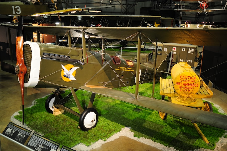DAYTON, Ohio -- De Havilland DH-4 in the Early Years gallery at the National Museum of the U.S. Air Force. (U.S. Air Force photo)