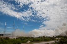 The U.S. Air Force and the 45th Space Wing supported the successful launch of a United Launch Alliance Atlas V rocket that roared skyward from Launch Complex 41 at Cape Canaveral Air Force Station carrying the Air Force's tenth Block IIF navigation satellite for the Global Positioning System July 15, 2015, at 11:36 a.m. EDT. (Photo//United Launch Alliance)