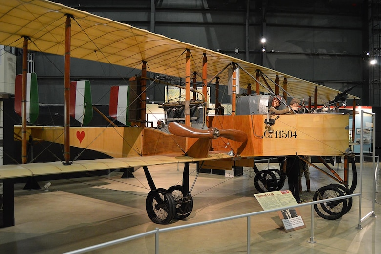 DAYTON, Ohio -- Caproni Ca. 36 in the Early Years Gallery at the National Museum of the United States Air Force. (U.S. Air Force photo)