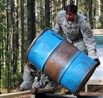 Master Sgt. Tomeka Brown approaches an obstacle at the Teamwork Development Course on Fort Jackson, S.C., April 24, 2015, during the 81st Regional Support Command's annual training. At the 81st RSC, Brown is responsible for providing administrative support and guidance to Active Guard Reserve and Active Component Soldiers within the southeast region, which includes reviewing and processing junior enlisted promotion packets.