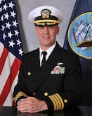 Official photo of USN Capt. Mark Weisgerber
