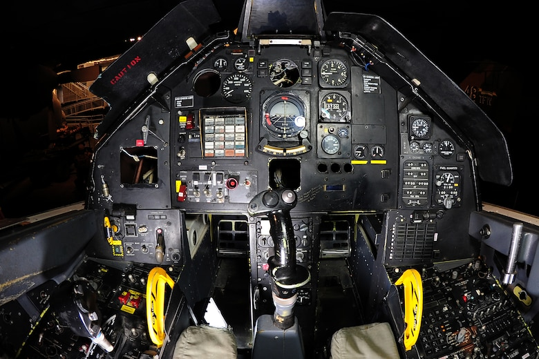 DAYTON, Ohio -- Lockheed F-117A cockpit at the National Museum of the United States Air Force. (U.S. Air Force photo)