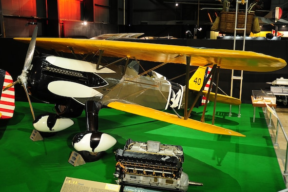 DAYTON, Ohio -- Curtiss P-6E Hawk on display in the Early Years Gallery at the National Museum of the United States Air Force. (U.S. Air Force photo)