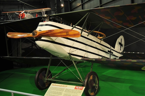 DAYTON, Ohio -- Halberstadt CL IV in the Early Years Gallery at the National Museum of the United States Air Force. (U.S. Air Force photo)