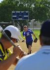The 436th Aircraft Maintenance Squadron defeated the 436th Security Force Squadron 18-12 in intramural softball July 6, 2015, at Dover Air Force Base, Del. (U.S. Air Force photo/Airman 1st Class William Johnson)