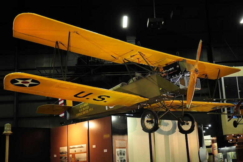 DAYTON, Ohio -- Consolidated PT-1 Trusty in the Early Years Gallery at the National Museum of the United States Air Force. (U.S. Air Force photo)