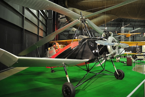 DAYTON, Ohio -- Kellet K-2/K-3 Autogiro in the Early Years Gallery at the National Museum of the United States Air Force. (U.S. Air Force photo)