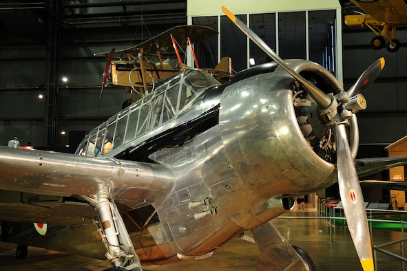 DAYTON, Ohio -- North American O-47B in the Early Years Gallery at the National Museum of the United States Air Force. (U.S. Air Force photo)