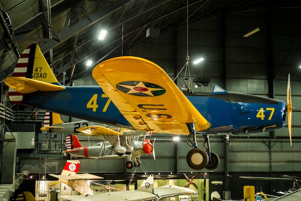 DAYTON, Ohio -- Fairchild PT-19A Cornell in the Early Years Gallery at the National Museum of the United States Air Force. (U.S. Air Force photo)